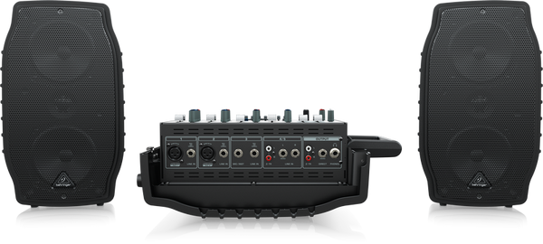 BEHRINGER EUROPORT PPA200 Ultra-Compact 200-Watt 5-Channel Powered Mixer with Wireless Microphone Option, KLARK TEKNIK Multi-FX Processor and FBQ Feedback Detection - The Guitar World