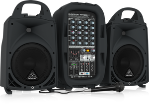 BEHRINGER EUROPORT PPA500BT Ultra-Compact 500-Watt 6-Channel Portable PA System with Bluetooth Wireless Technology, Wireless Microphone Option, KLARK TEKNIK Multi-FX Processor and FBQ Feedback Detection - The Guitar World