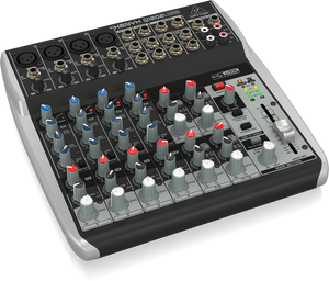 BEHRINGER XENYX Q1202USB Premium 12-Input 2-Bus Mixer with XENYX Mic Preamps & Compressors, British EQs and USB/Audio Interface - The Guitar World