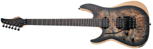 SCHECTER Reaper-6 FR LH LEFT HANDED Satin Charcoal Burst SKU 1513 - The Guitar World