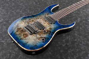 Ibanez RG Premium Electric Guitar 7 String IN Cerulean Blue Burst RG1027PBF-CBB - The Guitar World