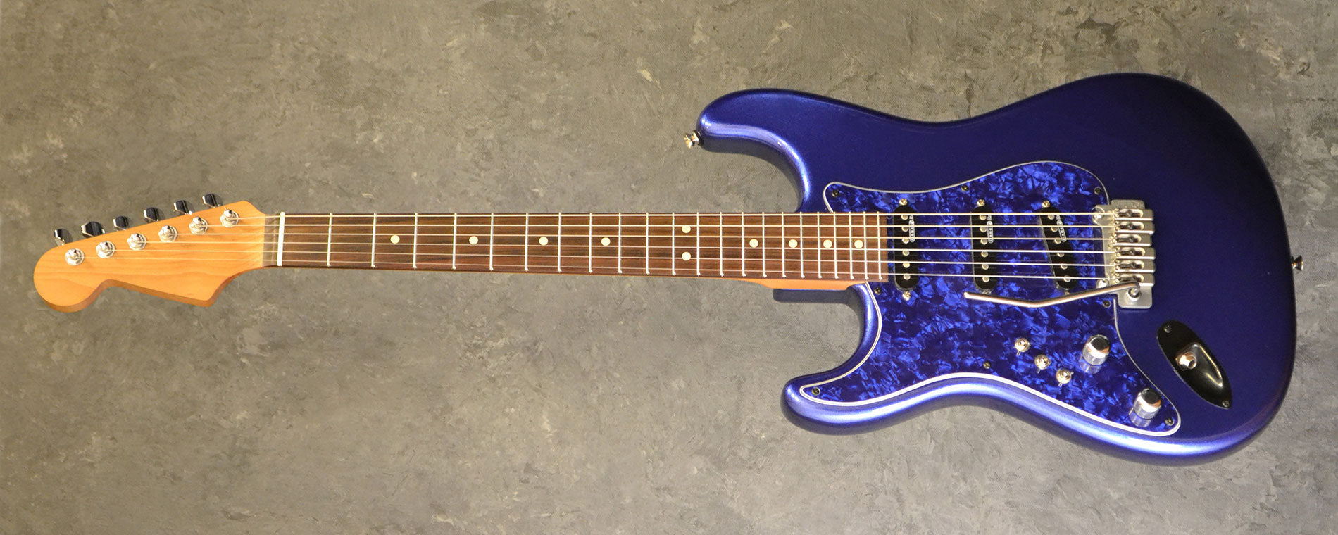 Used Guitars The Guitar World Electric Wiring For Kit Custom Built Strat Modded With Aftermarket Parts Left Handed 2012 Midnight Blue