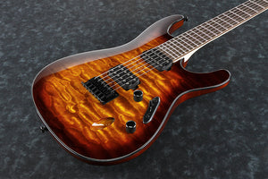 Ibanez S Series Electric Guitar with Quilted Maple Top IN Dragon Eye Burst S621QM-DEB - The Guitar World
