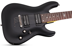 Schecter C-7 SGR by Schecter Midnight Satin Black MSBK SKU 3822 - The Guitar World