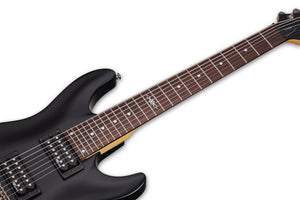Schecter C-7 SGR by Schecter Midnight Satin Black MSBK SKU 3822