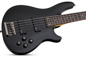 Schecter C-5 SGR by Schecter in Gloss Black BLK SKU 3824