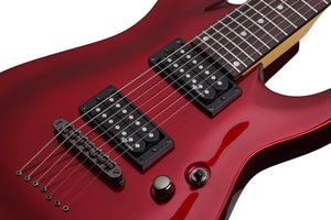 Schecter C-7 SGR by Schecter in Metallic Red MRED SKU 3823