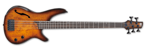 Ibanez SRH505 Semi-Hollow Bass Guitar IN Dragon Eye Burst Flat SRH505-DEF - The Guitar World