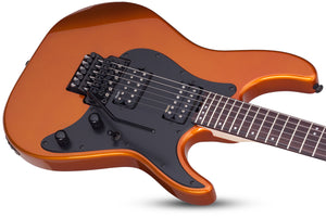 Schecter Sun Valley Super Shredder FR in Lambo Orange LOR SKU 1281 - The Guitar World