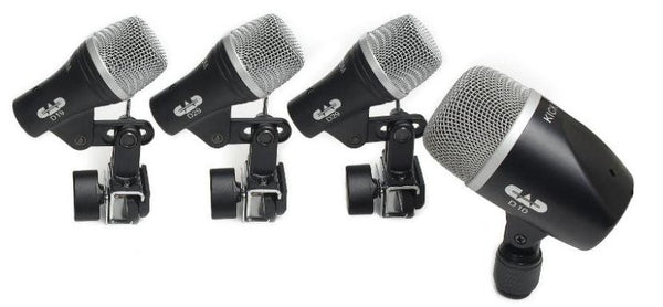 CAD 4 piece Drum Microphone Pack - two D29 one D19 one D10 STAGE4 - The Guitar World