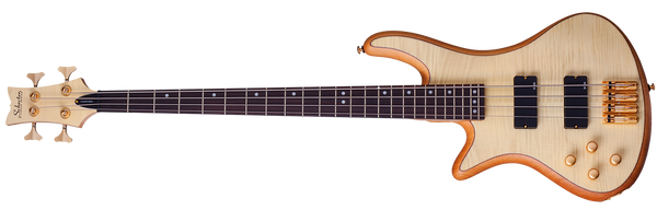 Schecter Stiletto Custom 4 Left-Handed Electric Bass Natural Satin 2532-SHC - The Guitar World