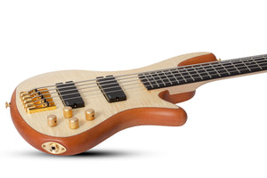 Schecter Stiletto Custom-5 Electric Bass Natural Satin 2541-SHC - The Guitar World