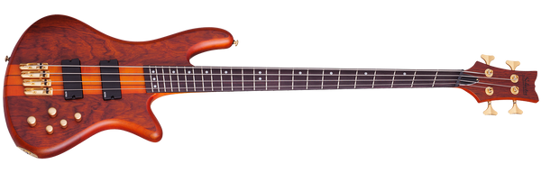 Schecter 4-String Fanned Fret Bass Guitar Honey Stain w/ Geartree Cloth and Hard Case 2793 - The Guitar World