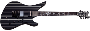 Schecter Synyster Gates Custom-S Ebony Board Electric Guitar Gloss Black/Silver Stripes 1741-SHC
