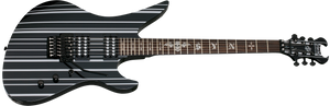 Schecter Synyster Standard 6-String Electric Guitar Gloss Black with Silver Pin Stripes 1739-SHC - The Guitar World