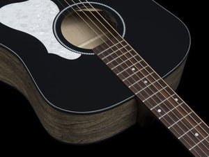 Seagull S6 Series 6-String RH Acoustic Electric Guitar in Classic Black - 048595