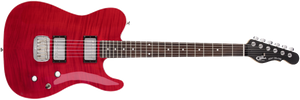 G&L Tribute ASAT Deluxe Carved Top Electric Guitar TRANS RED