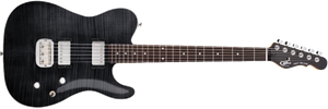 G&L Tribute ASAT Deluxe Carved Top Electric Guitar -TRANS BLACK - The Guitar World