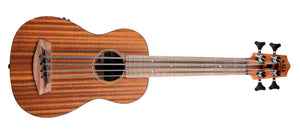 KALA Laminate Mahogany The Rumbler Bass Ukulele With Padded Gig Bag Natural  KA-UBASS-RMBL-FS