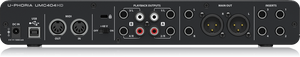 BEHRINGER U-PHORIA UMC404HD Audiophile 4x4, 24-Bit/192 kHz USB Audio/MIDI Interface with MIDAS Mic Preamplifiers - The Guitar World