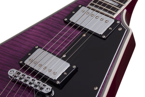 Schecter V-1 Custom Trans Purple SKU 654 - The Guitar World