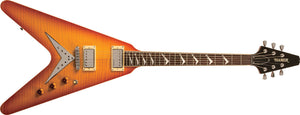 Hamer XT The Vector Honey Burst V Style Electric Guitar With DLX Bag VECF-HB - The Guitar World