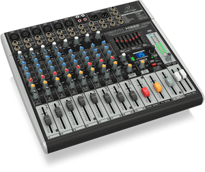 BEHRINGER XENYX X1222USB Premium 16-Input 2/2-Bus Mixer with XENYX Mic Preamps & Compressors, British EQs, 24-Bit Multi-FX Processor and USB/Audio Interface