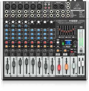 BEHRINGER XENYX X1222USB Premium 16-Input 2/2-Bus Mixer with XENYX Mic Preamps & Compressors, British EQs, 24-Bit Multi-FX Processor and USB/Audio Interface - The Guitar World