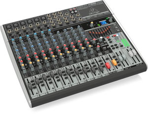 BEHRINGER XENYX X1832USB Premium 18-Input 3/2-Bus Mixer with XENYX Mic Preamps & Compressors, British EQs, 24-Bit Multi-FX Processor and USB/Audio Interface