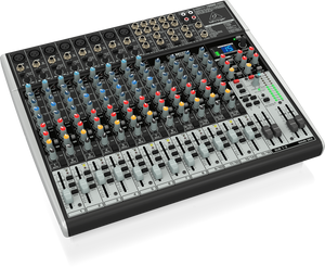 BEHRINGER XENYX X2222USB Premium 22-Input 2/2-Bus Mixer with XENYX Mic Preamps & Compressors, British EQs, 24-Bit Multi-FX Processor and USB/Audio Interface