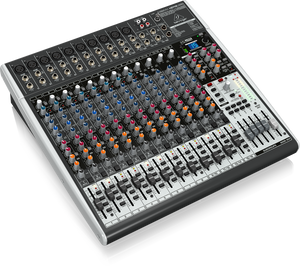 BEHRINGER XENYX X2442USB Premium 24-Input 4/2-Bus Mixer with XENYX Mic Preamps & Compressors, British EQs, 24-Bit Multi-FX Processor and USB/Audio Interface