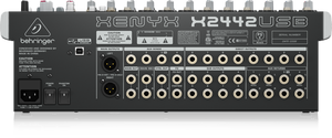 BEHRINGER XENYX X2442USB Premium 24-Input 4/2-Bus Mixer with XENYX Mic Preamps & Compressors, British EQs, 24-Bit Multi-FX Processor and USB/Audio Interface - The Guitar World