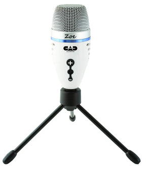 CAD Usb Condenser Recording Microphone With Trakmix Headphone Output ZOE