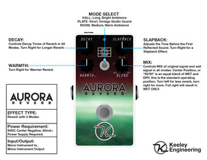 Keeley Aurora Reverb Digital Reverb Pedal - The Guitar World