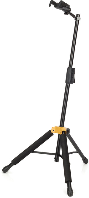 HERCULES AUTO GRIP SYSTEM (AGS) SINGLE GUITAR STAND W/FOLDABLE YOKE GS415B - The Guitar World
