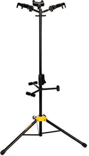 HERCULES AUTO GRIP SYSTEM (AGS) TRIPLE GUITAR STAND, FOLDABLE BACKREST GS432B - The Guitar World