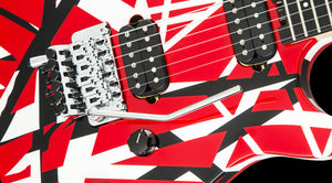 EVH Wolfgang Special, Ebony Fingerboard - Red, Black and White Stripes