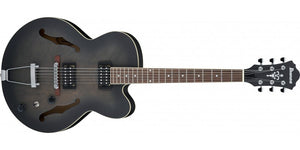 IBANEZ AF55-TKF ARTCORE FULL HOLLOW LINDEN BODY IN TRANSPARENT BLACK FLAT - The Guitar World