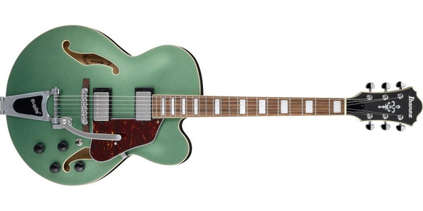 Ibanez AFS75T-MGF Artcore Series 6 String RH Hollowbody Electric Guitar-Metallic Green Flat - The Guitar World