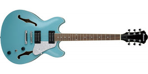 IBANEZ AS63-MTB ARTCORE VIBRANT SAPELE TOP,BACK AND SIDES-MINT BLUE - The Guitar World