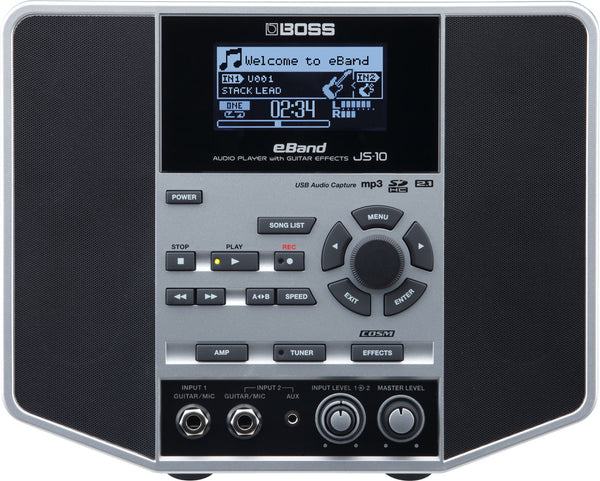 Boss eBand JS-10 Jamstation Audio Player Amplifier with Guitar Effects and Jam Tracks - The Guitar World