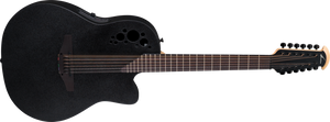 Ovation Elite 12 string Acoustic/Electric Black 2058TX-5 - The Guitar World