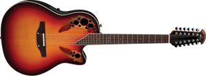 Ovation Standard Elite 12-String Acoustic - New England Burst 2758AX-NEB