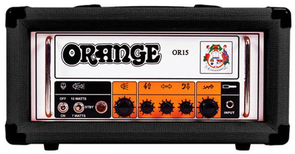 Orange OR15H-BK 15 Watt Guitar Amp Head in Black - The Guitar World