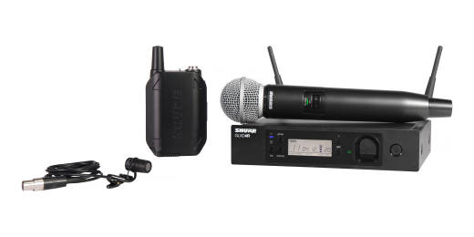 Shure GLXD124R/85 Handheld and Lavalier Combo Wireless System