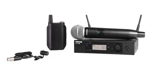 Shure GLXD124R/85 Handheld and Lavalier Combo Wireless System - The Guitar World