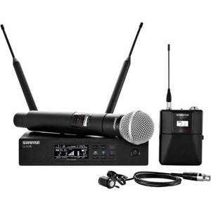 Shure QLXD124/85 Handheld and Lavalier Combo Wireless Mic System - The Guitar World