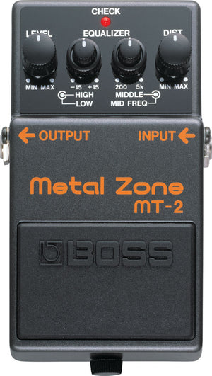 Boss MT-2 Metal Zone Pedal - The Guitar World