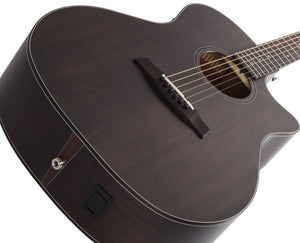 Orleans Studio Acoustic Satin See Thru Black SSTBLK SKU 3713 - The Guitar World