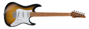 Ibanez ATZ100-SBT Andy Timmons Signature 6 String RH Electric Guitar with Case in Sunburst Flat